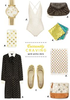 Currently Craving: Gold Polka Dots | www.theglitterguide.com