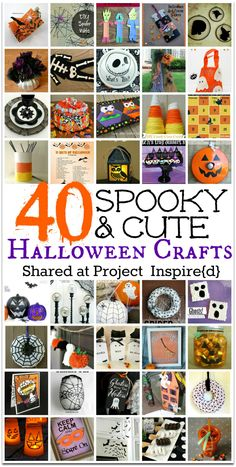 If you love all that's spooky and cute for Halloween you're going to love these fun Halloween crafts Great Ideas from Project Inspire{d}. It's time to grab that glue gun and get your craft on!