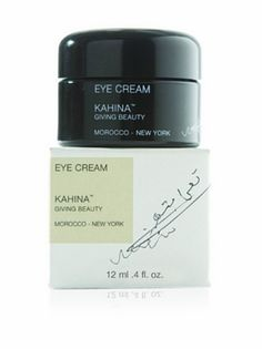 Kahina Giving Beauty Eye Cream, 12 ml by Kahina Giving Beauty. $63.00. Soothe and relax muscles around the eyes to reduce the appearance of fine lines. Fight free radicals that contribute to cellular damage and aging. Enhance moisture retention while boosting collagen production. 12 ml. Stimulate microcirculation to decrease puffiness and dark circles. A luxe cream with rich texture and light scent that delivers immediate firming and soothing effects. Key ingredients include hig...