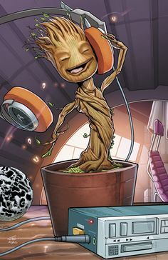 aholes-guardiansofthegalaxy: Baby Groot - Created by Ross Hughes