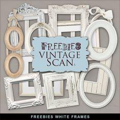 New Freebies Kit - White Frames