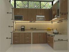Medidas estándar distribución de cocina.