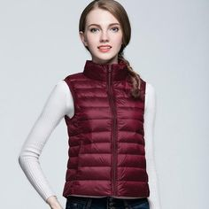 Casual Ultralight Jackets Feather Warm Stand Collar Coat