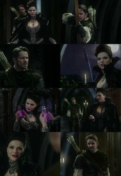 The first time we see that Robin is not even a little bit afraid of Regina, even Evil Queen Regina.  I love that he just immediately steps to her.  I don't think I would have believed they were soul mates if they hadn't mutually tried to kill each other during their first adventure.