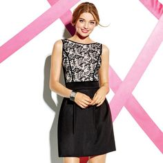 It's not just a color - it's a state of mind! With a pretty, fitted black-lace top and a slightly flared solid black tulip skirt, this figure-flattering, party-perfect twofer dress guarantees you'll wow from the moment you walk in the door. Regularly $44.00, buy Avon Fashion products online at eseagren.avonrepresentative.com