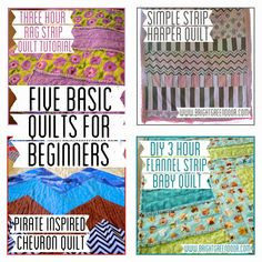 Want to try your hand at sewing a quilt? Check out these Five Basic Quilts for Beginners.