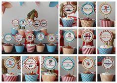 Jocelyn's Parties: Vintage Circus Cupcakes