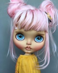 Cutie of the Day from . Ooak Dolls, Blythe Dolls, Barbie Dolls, Pretty Dolls, Beautiful Dolls, Gothic Dolls, Little Doll, Doll Repaint, Custom Dolls