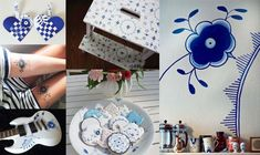 Kalder alle Mega Mussel fans! Blue And White Living Room, Royal Copenhagen, Mussels, Home Decor Styles, Alter, Mini, Creative, Perler, Decorations