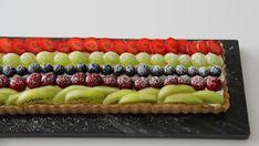 regnbue tærte frugt