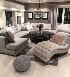 [New] The 10 Best Home Decor Today (with Pictures) - Living Room inspo Sectional sofas coffee tables and accent chairs - - - - - - - - - - - Living Room Decor Cozy, Home Living Room, Apartment Living, Bedroom Decor, Living Room Ideas, Bedroom Furniture, Living Room Goals, Cozy Apartment, Decor Room