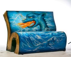 Furious bench. How to Train Your Dragon byCressida Cowell. Design by Cressida Cowell