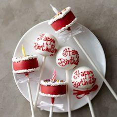 Sweet Lauren Cakes Birthday Cake Pops