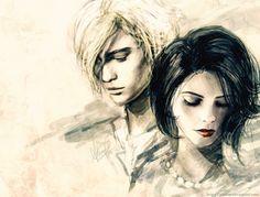 'The Twilight Saga' - Alice & Jasper Fan Art. ~ I gotta say this is pretty cool! Alice Cullen, Edward Cullen, Film Twilight, Jasper Twilight, Alice Twilight, Ashley Green, Digital Painter, Alice And Jasper, Saga Art