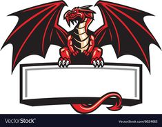 Dragon mascot spread the wings. Vector of dragon mascot spread the wings , Logo D'art, Art Logo, Game Logo Design, Custom Logo Design, Logo Free, Logo Dragon, Video Game Logos, Esports Logo, Dragon Design