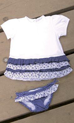 Culetín y camiseta chic - Cosas de niños. Venta on line Pasito a Pasito. Moda, regalos, juegos.