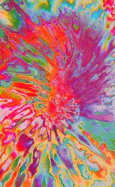 ☮American Hippie Art Tie Dye Wallpaper ☮ Art Pattern