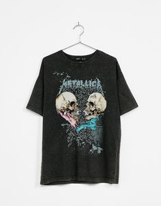 Faded effect Metallica skull T-shirt - T- Shirts - Bershka Colombia