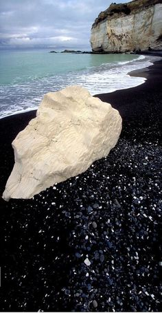 Black sand beach in North Canterbury ~ New Zealand