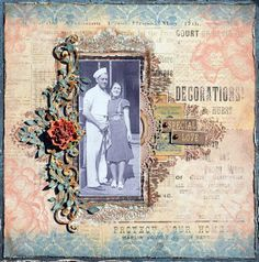 Mixed media layout by DT Denise using @RiddersholmDesign papers and @BlueFern Chipboard. Inspiration for April 2017 challenge