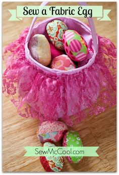 Fabric Easter Eggs. Free pattern in post. #fabric #sew #easter #eggs