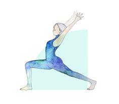 yoga illustrations minne
