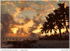 #Key West, cloudy sunset :)
