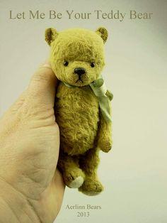 Let Me Be Your Teddy Bear ~ pattern sample Viscose Artist Bear by Aerlinn Bears