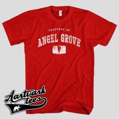 Property of Angel Grove Tshirt for Men Women and by AartvarkTees, $18.99