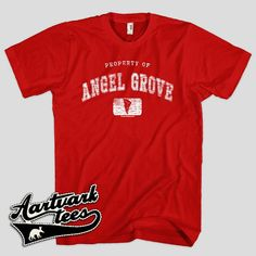 Property of Angel Grove Tshirt for Men Women and by AartvarkTees, $18.99