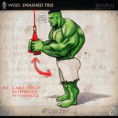 Arm Workout: Don't Neglect Your Triceps When Building Your Arms #hulk #triceps #armworkout #avengers #bigarms