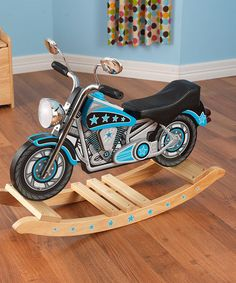 This Star-Studded Motorcycle Rocker is perfect! #zulilyfinds