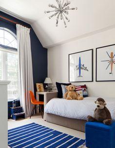Интерьер, Современный, Детская, детская комната,комната для мальчика,постеры,синий,