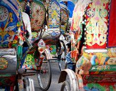 Rickshaws in Dhaka - Bangladesh