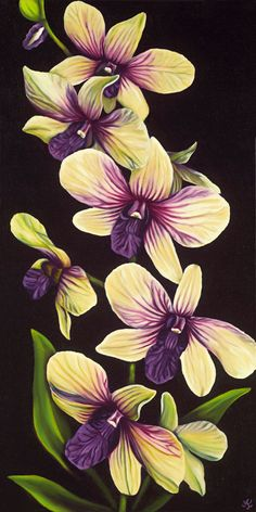 Dendrobium Night Limited Edition Giclee
