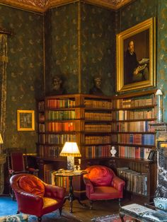 The Library at Dunster Castle in Somerset   by Anguskirk