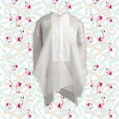 Chemise en organza de soie et coton, Maison Rabih Kayrouz #TheWebsterXLeBonMarche #WHITE #FASHION #MODE