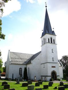 Furnes Kirke, i Ringsaker, near Hamar, in Norway.  Grandmother's childhood church.  Great-grandparents' burial place.