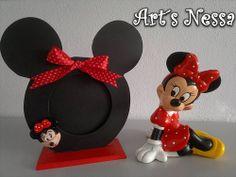 Porta retrato Minnie e Minnie gesso