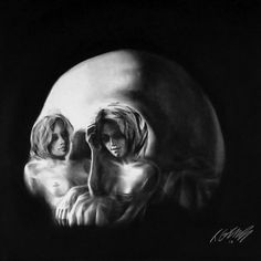 optical illusion skull