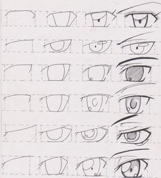 Manga and anime eyes. But the last one seems to belong to Lelouch form Code Geass