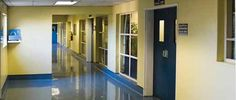 Photo about Empty hospital hallway, perspective view, healthcare series. Image of passage, life, hospice - 2817842 Hollow Metal Doors, Lead Lines, Boston, Brio, Polished Concrete, Hospice, Concrete Floors, Steel Frame, View Photos