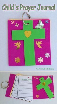 Printable prayer journal for kids.