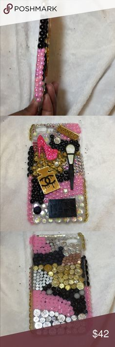 📱Iphone 6 Plus Makeup Case📱 iPhone 6 Plus Makeup Handmade Case. This case Handmade by me very blingy and sparkly!! Looks very pretty on your phone! Brand new Apple Iphone Accessories Phone Cases