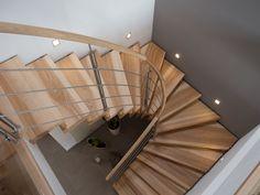 Bolzentreppe Kernesche | Schreinerei Unterhuber Stairs Architecture, Architecture Design, Building Stairs, Staircase Makeover, Stair Lighting, Modern Stairs, Staircase Design, Ceiling Design, Stairways