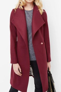 Soft wool and cashmere blend long wrap coat. Waist tie, wrap over with button fastening, high funnel neck and long sleeves. Model is 1.79m tall and wears size 2/ small.    Ted Size, 0 = US 2, XXS; 1= US 4, XS ; 2 = US6, S; 3 = US 8, M; 4 = US10, L; 5 = US 12, XL       Long Wrap Coat  by Ted Baker. Clothing - Jackets, Coats & Blazers - Coats Netherlands