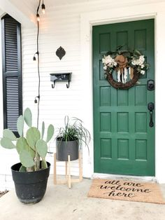 Exterior paint colora for house white planters 70 Ideas - Modern White Exterior Houses, Front Door Paint Colors, Exterior Paint Colors For House, Painted Front Doors, Paint Colors For Home, Exterior Shutter Colors, Paint Colours, House Front Door, House Doors