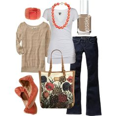 casual coral, created by htotheb.polyvore.com