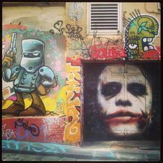 Hosier Lane, Melbourne - well know for it's unbelievable graffiti!