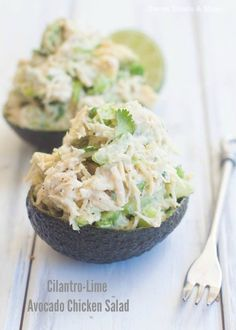 Cilantro-Lime Avocado Chicken Salad | Sweet Treats & More